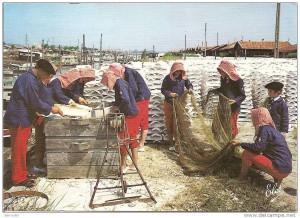 Ancienne carte postale, montrant que la tradition remonte à loin
