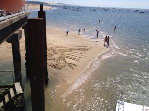 Peu d'eau et pas mal de sable...
